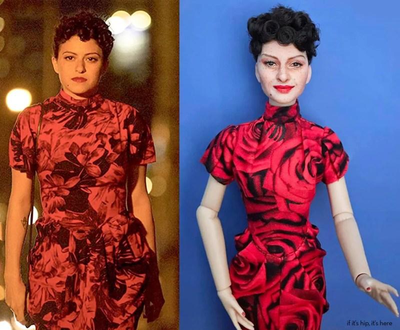 Actress Alia Shawkat and Dory Doll