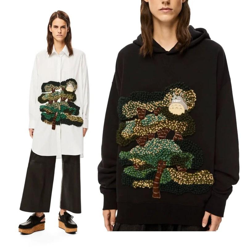 loewe totoro long shirt and crafty hoodie