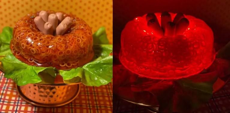 hot dog spaghettio jello lamp