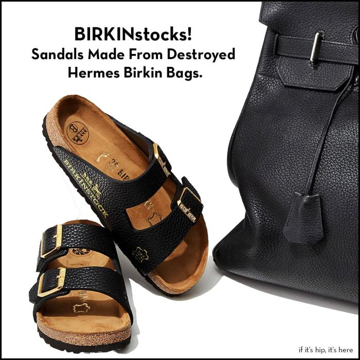 Sandals Made From Birkin Bags
