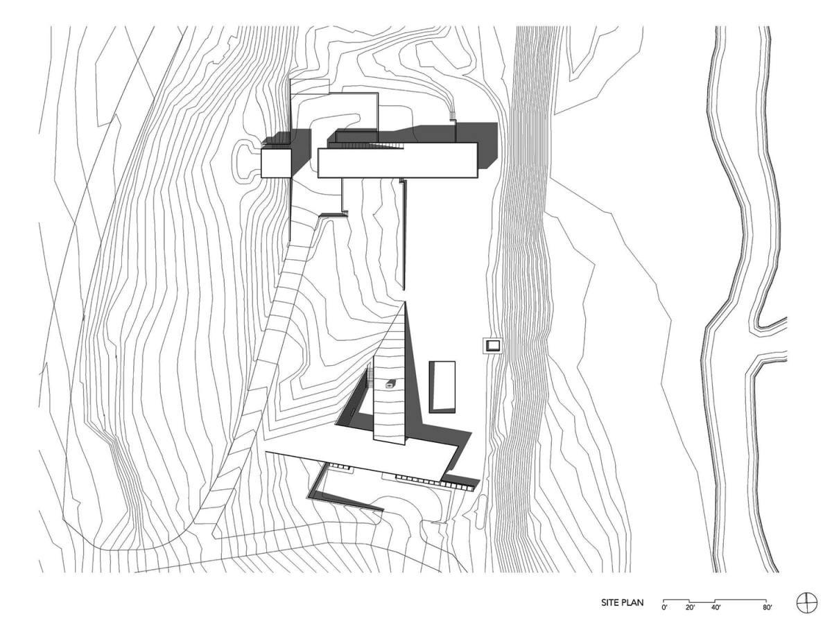 siteplan house in the mountains