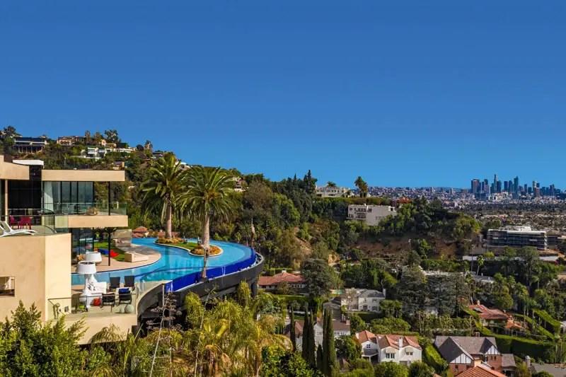 luxury home with island pool