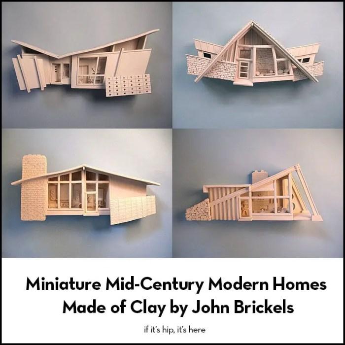 miniature mid-century homes