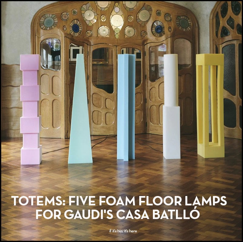 totems foam floor lamps