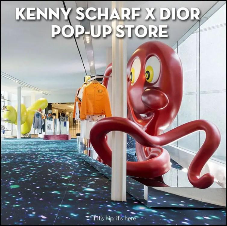 kenny scharf dior pop-up store