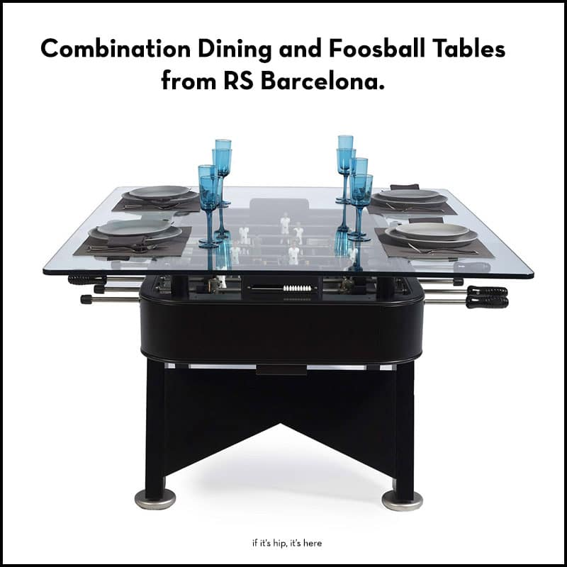 combination foosball dining tables