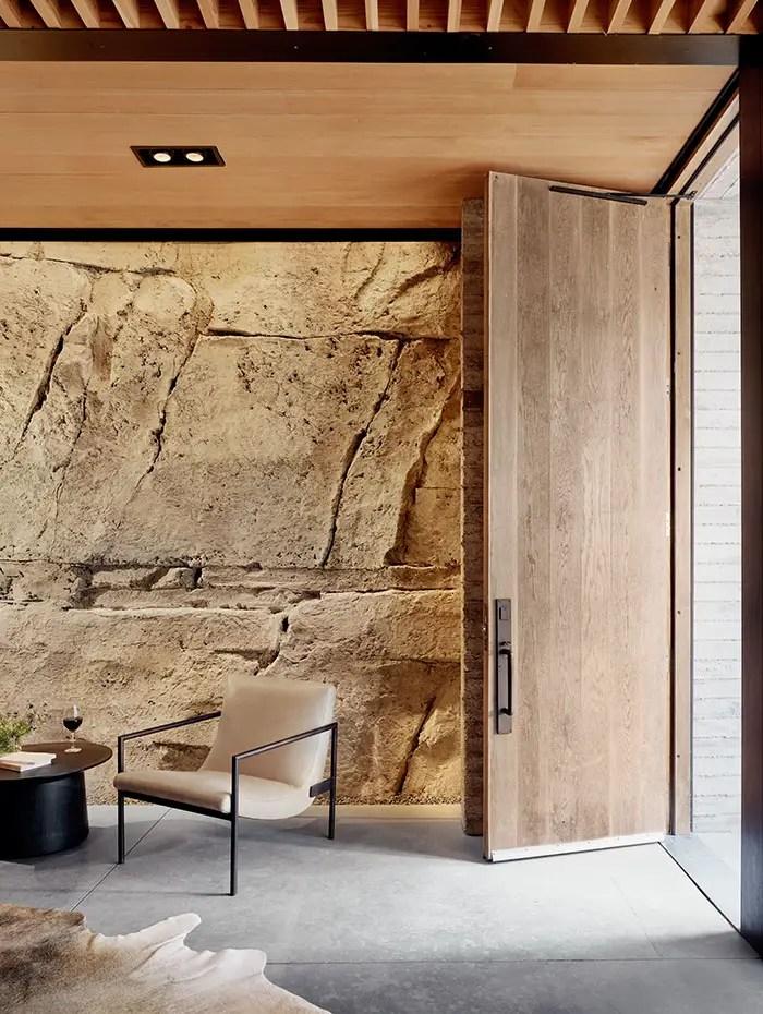 inside wine cave front door