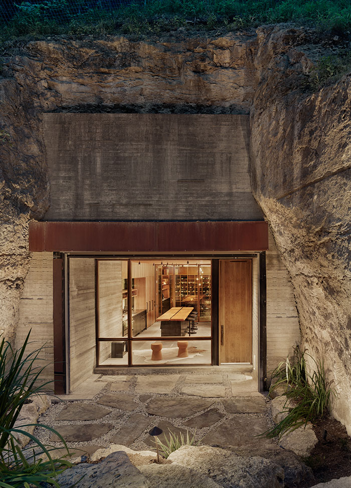 wine cave entrance