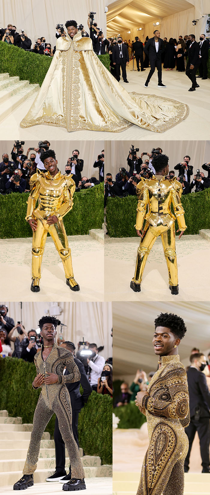 lil nas x cape and suit met gala