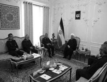 ifmat - Rouhani Praises IRGC in Meeting With Top Terror Commanders