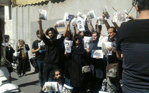 ifmat - Protest in Iran to release political prisoner soheil Arabi