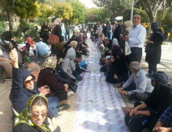 ifmat - Protest gathering of retirees in front of Iran planning and budget organization