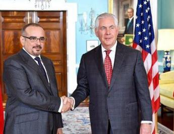 ifmat - Tillerson discusses Iran regimes Malign influence with Bahraini crown prince