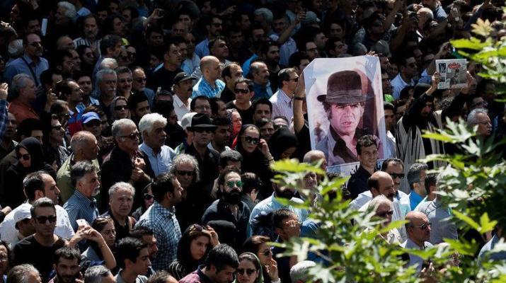 ifmat - Regime chnge protests sparked by the funeral of Iranian actor