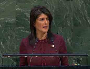 ifmat - US ambassador Nikki Haley says Iran is feeling the pain