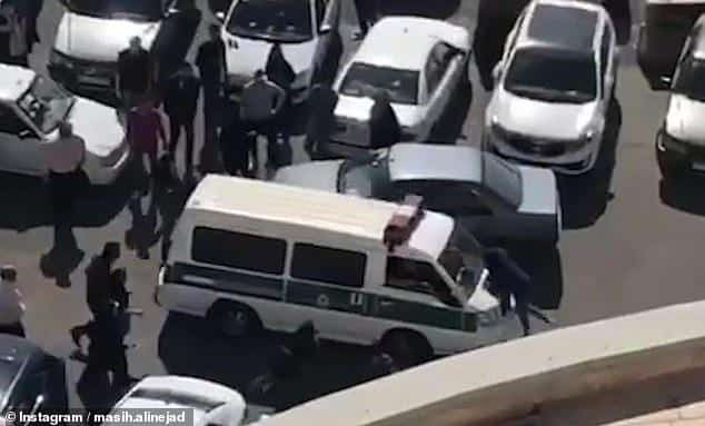 ifmat - Morality police run over a female student protesting compulsory hijab laws in Iran