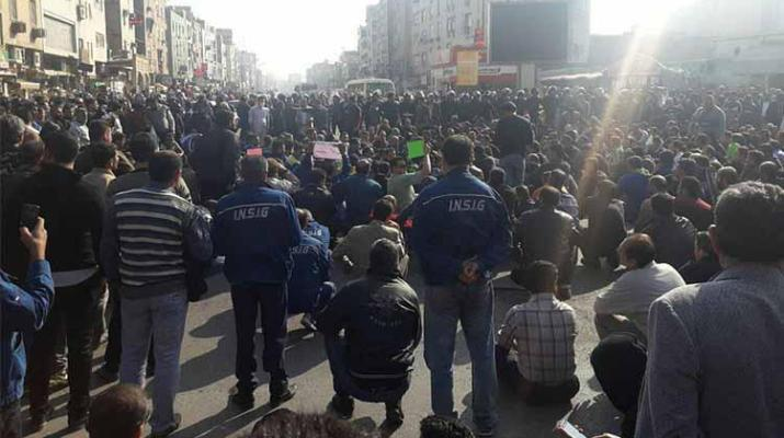ifmat - Nightly arrest of national Iranian steel industrial group workers