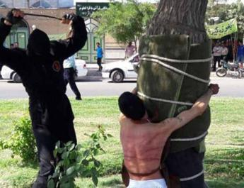 ifmat - Man flogged in public for robbery in Iran
