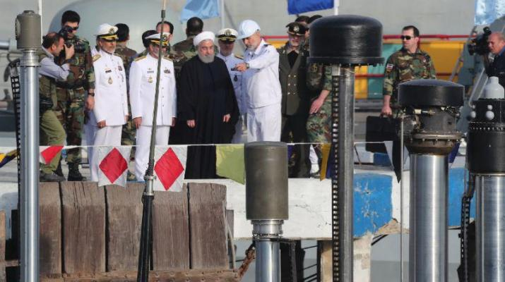 ifmat - Iran launched a new locally-made submarine capable of firing cruise missiles