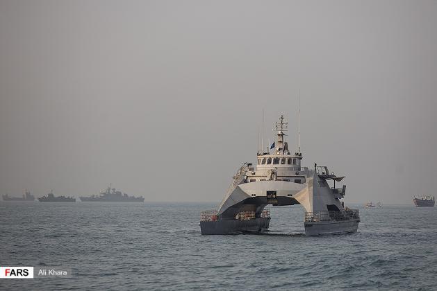 ifmat - Iran unveils new catamaran capable of firing cruise missiles1