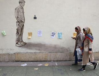 ifmat - Tehranis surround morality police van
