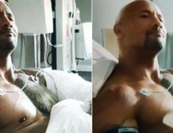 ifmat - Iranian TV censors movie - Covers up the Rock nipple