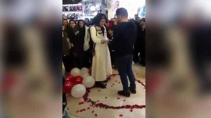 ifmat - Iranian couple arrested for public romantic marriage proposal
