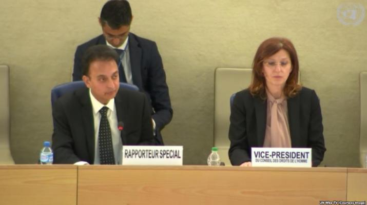 ifmat - UN expert slams Iran regime human rights abuses
