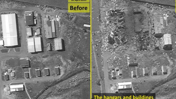 ifmat - Satellite images show Iranian missile factory in Syria destroyed