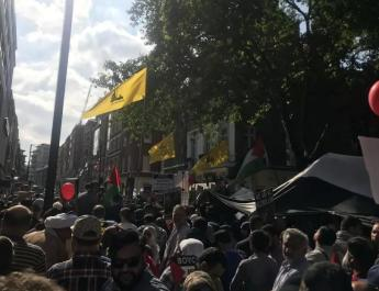ifmat - UK police will intervene if Hezbollah flags flown on Quds Day in London
