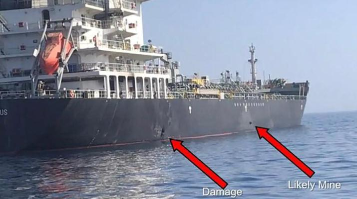 ifmat - US video shows IRGC members removing unexploded mine from Gulf Tanker