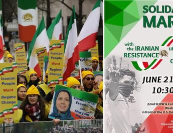 ifmat - Washington demonstration by MEK supporters for a free Iran