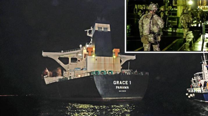 ifmat - Iranian oil tanker trying to skirt EU sanctions seized by Britain