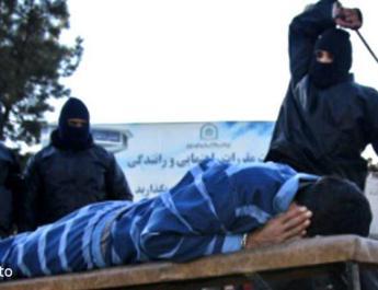 ifmat - Prisoner flogged in public in Ahvaz Iran