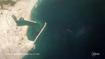 ifmat - Satellites images of spotted two seized tankers in Iran1