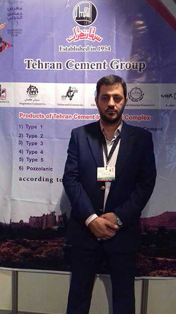 ifmat - The representative of the Siman Nahavand in the international fair in Damascus