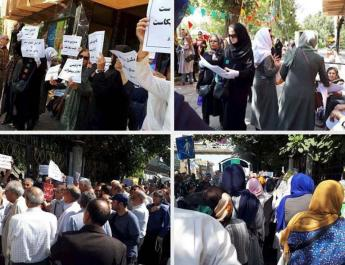 ifmat - Demonstrations and protests by retirees and teachers in Tehran