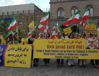 ifmat - Javad Zarif visit to Sweden was met with stormy protests
