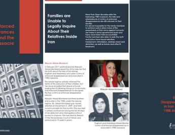 ifmat - New Report on 1988 massacre in Iran