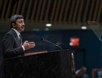 ifmat - UAE urges world leaders to take firm stance against Iran