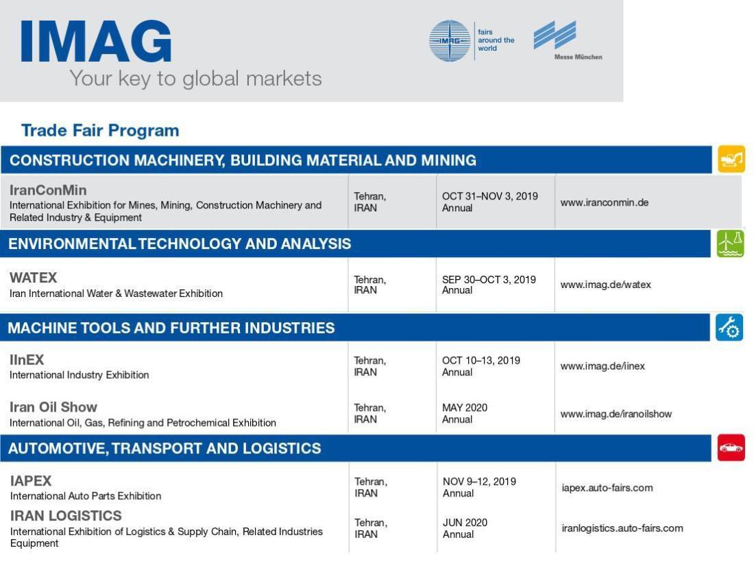 ifmat - IMAG Trade Fair program