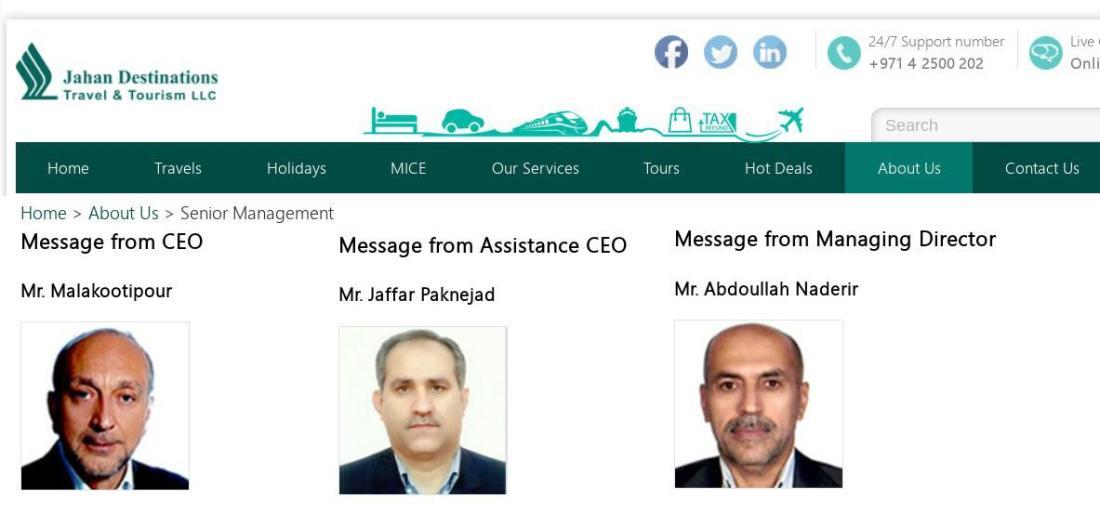 ifmat - Senior Management Jahan Destinations