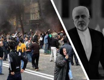 ifmat - Zarifs trip to Italy cancelled as Iran protest continue