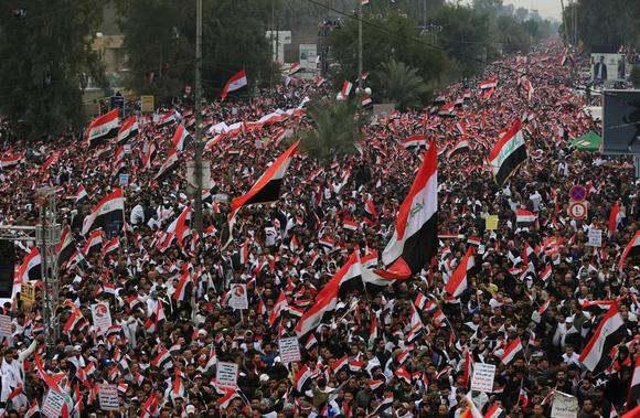 ifmat - Iranian linked forces orchestrated Iraqi protests against US