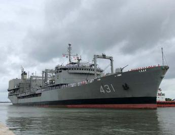 ifmat - Iranian Navy vessel anchors in Jakarta