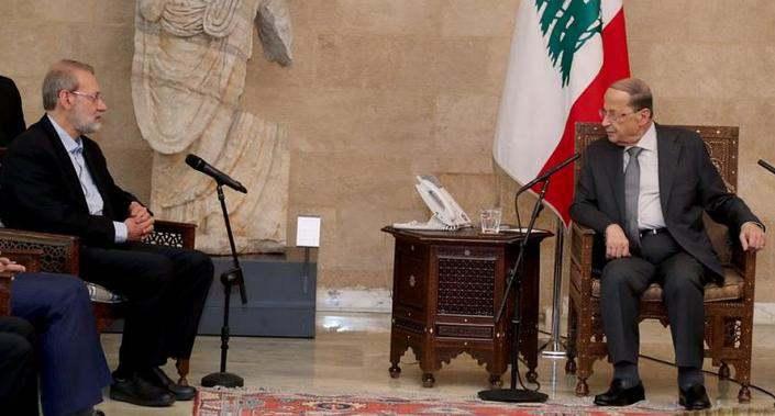 ifmat - Iranian speaker Larijani defends Hezbollah during visit to Lebanon