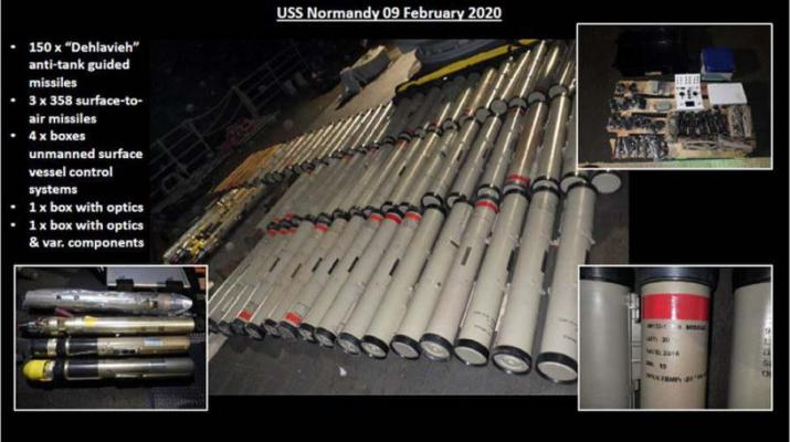 ifmat - Weapons shipment from Iran seized in Arabian sea was for Houthis
