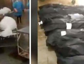 ifmat - Disturbing video of body bags inside Qom hospital