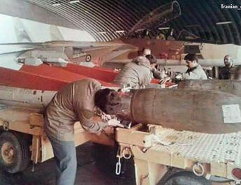 ifmat - Iran equipped its F-14s with modified hawk SAMs that had bombs attached to their noses