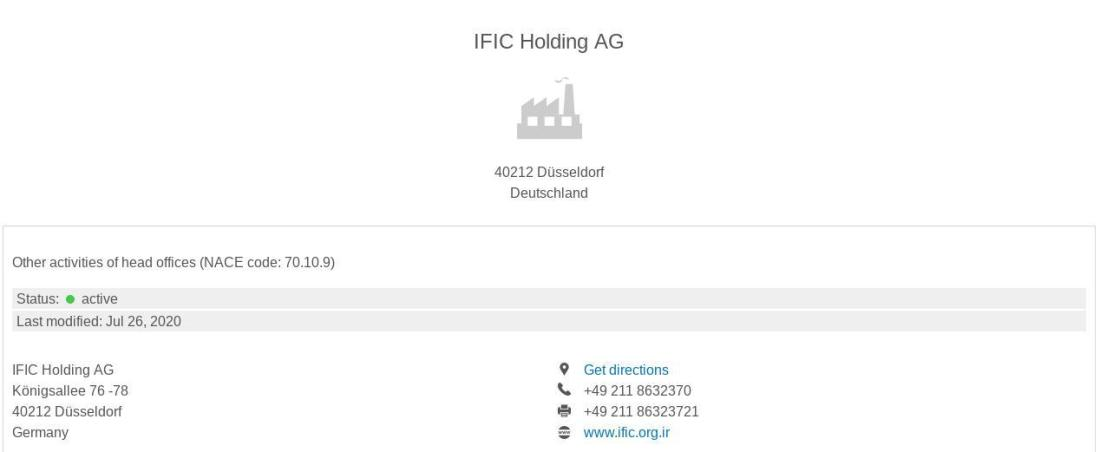 ifmat - IFIC Holding AG - Active
